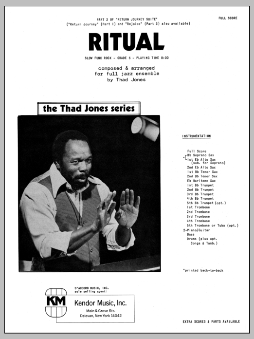 Ritual (COMPLETE) sheet music for jazz band by Thad Jones. Score Image Preview.