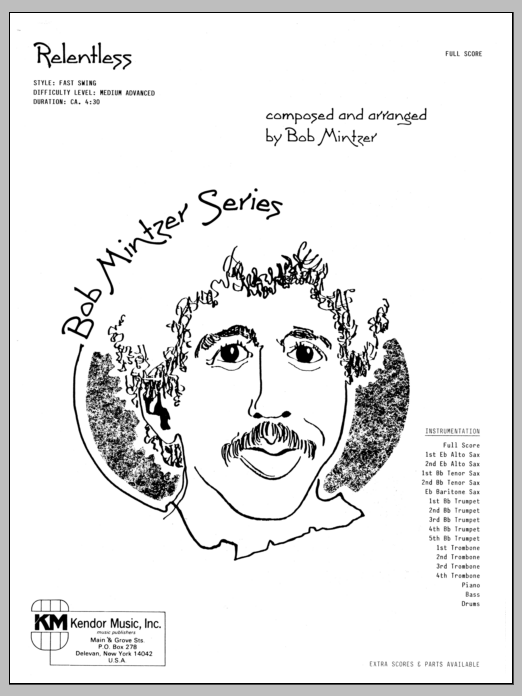 Relentless (COMPLETE) sheet music for jazz band by Bob Mintzer. Score Image Preview.