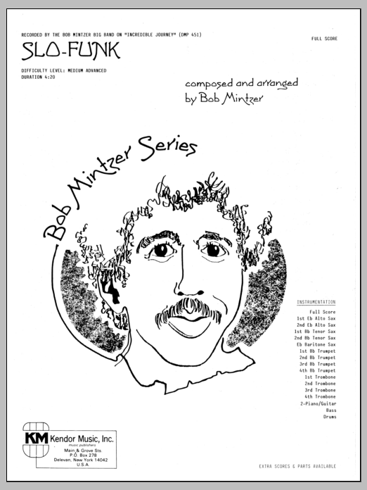Slo-Funk (COMPLETE) sheet music for jazz band by Bob Mintzer. Score Image Preview.