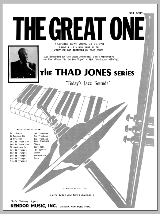 The Great One (COMPLETE) sheet music for jazz band by Thad Jones. Score Image Preview.