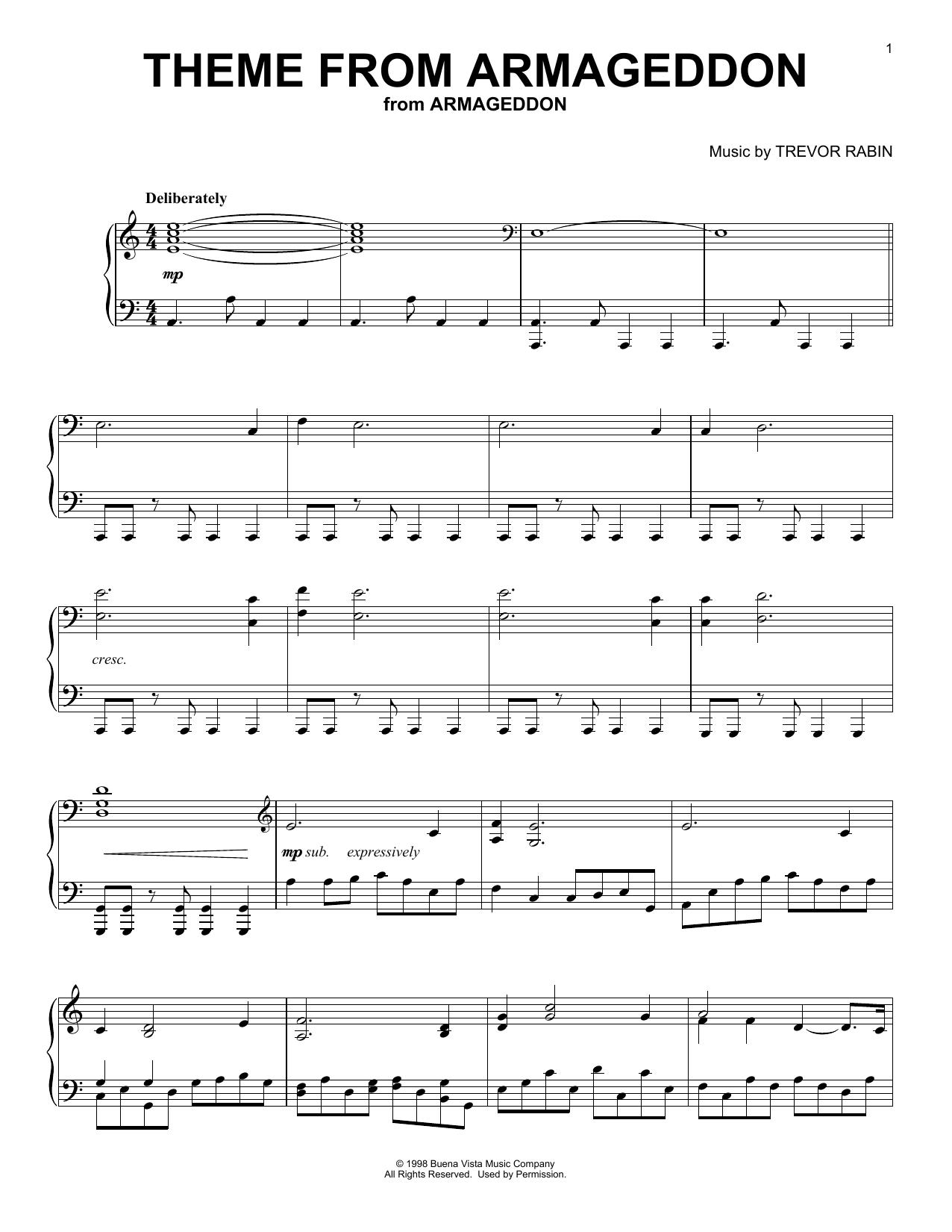 Theme From Armageddon (Piano Solo)