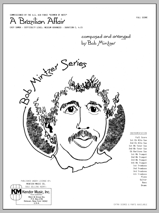 Brazilian Affair (COMPLETE) sheet music for jazz band by Bob Mintzer. Score Image Preview.