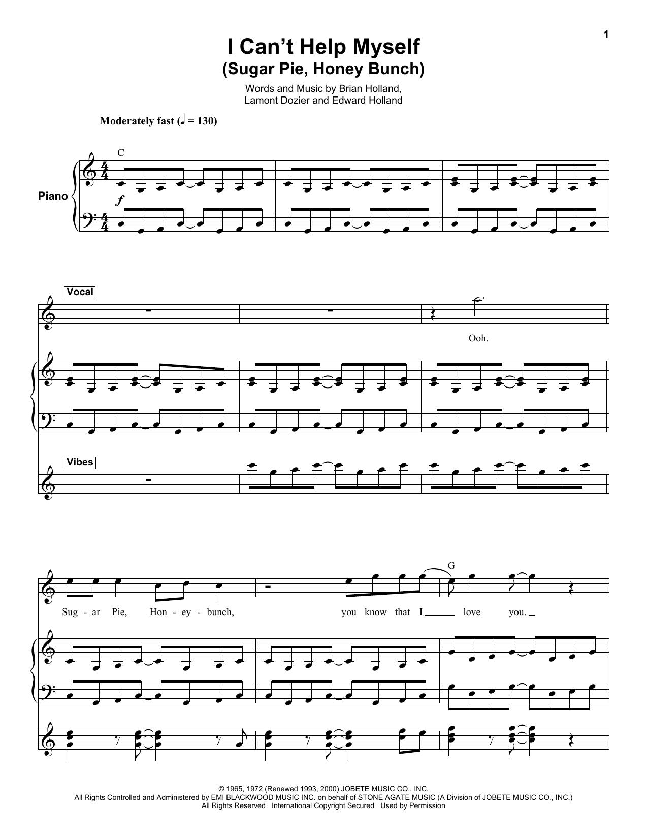 Partition autre I Can't Help Myself (Sugar Pie, Honey Bunch) de The Four Tops - Autre