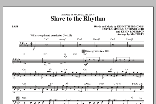 Slave To The Rhythm - Bass (Choir Instrumental Pak)