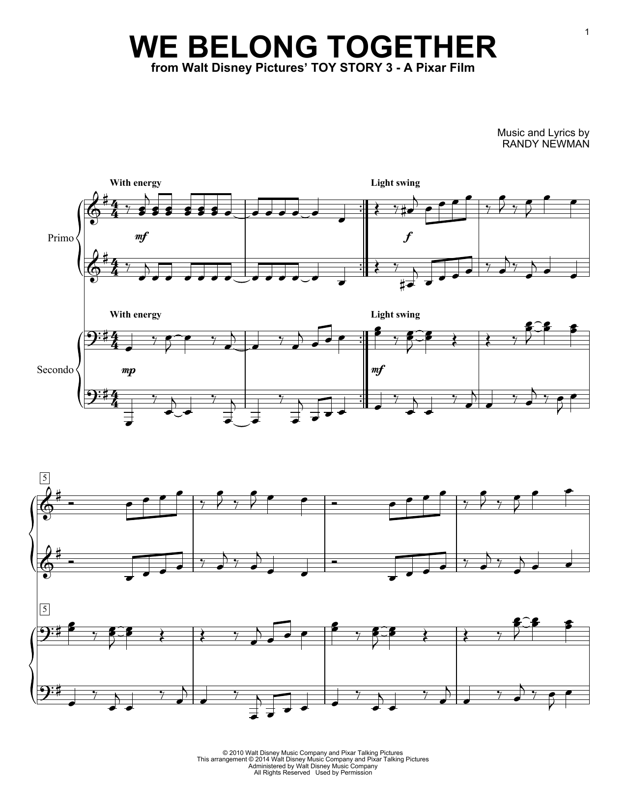 bind us together sheet music pdf