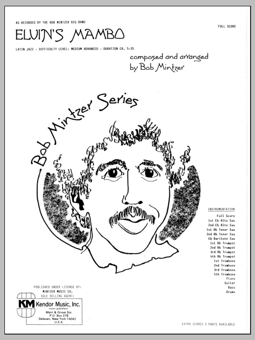 Elvin's Mambo (COMPLETE) sheet music for jazz band by Bob Mintzer. Score Image Preview.