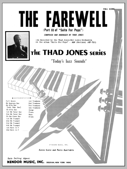 The Farewell (COMPLETE) sheet music for jazz band by Thad Jones. Score Image Preview.