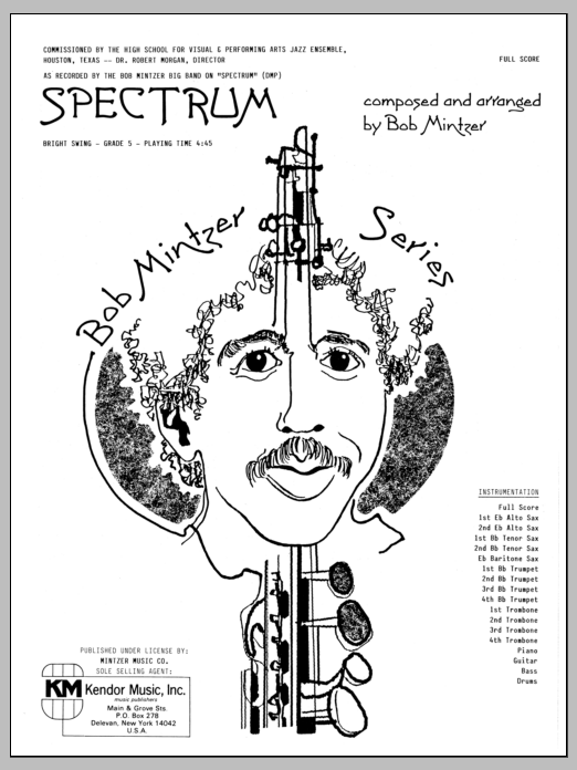 Spectrum (COMPLETE) sheet music for jazz band by Bob Mintzer. Score Image Preview.