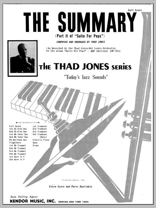 The Summary (COMPLETE) sheet music for jazz band by Thad Jones. Score Image Preview.