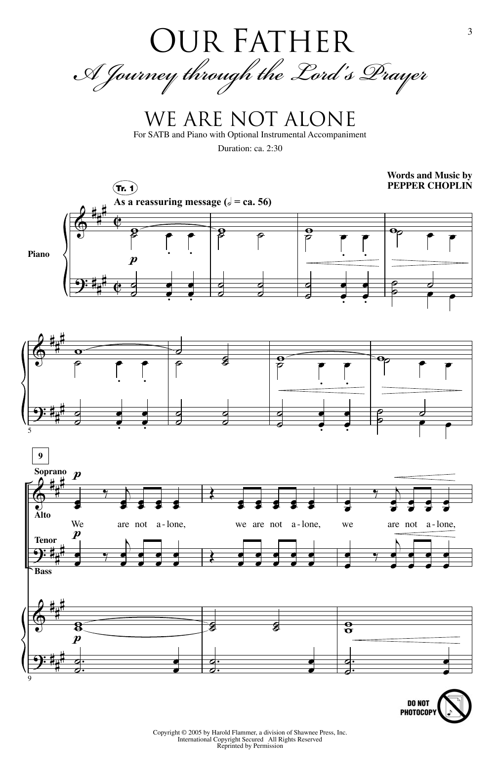 Our Father (A Journey through the Lord's Prayer) (SATB Choir)