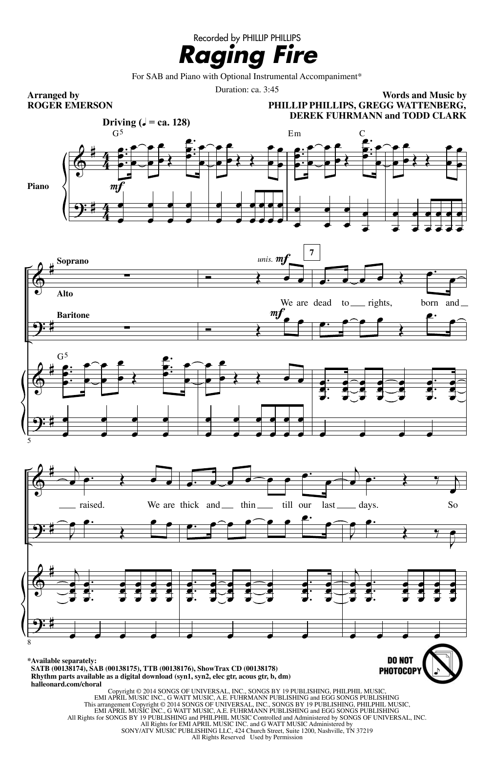Raging Fire Sheet Music