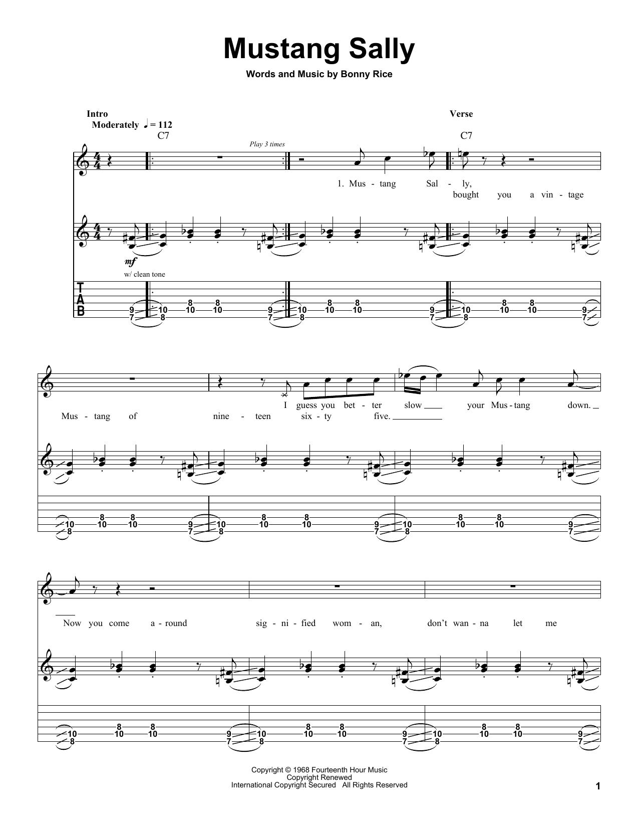 Mustang Sally (Guitar Tab (Single Guitar))
