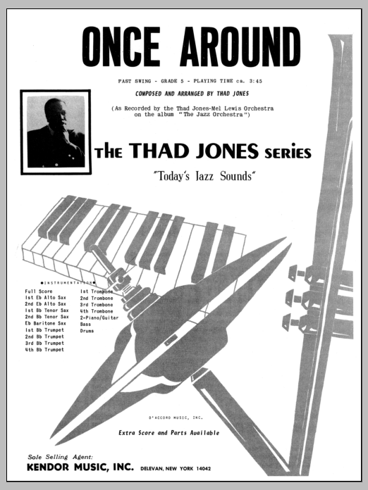 Once Around (COMPLETE) sheet music for jazz band by Thad Jones. Score Image Preview.