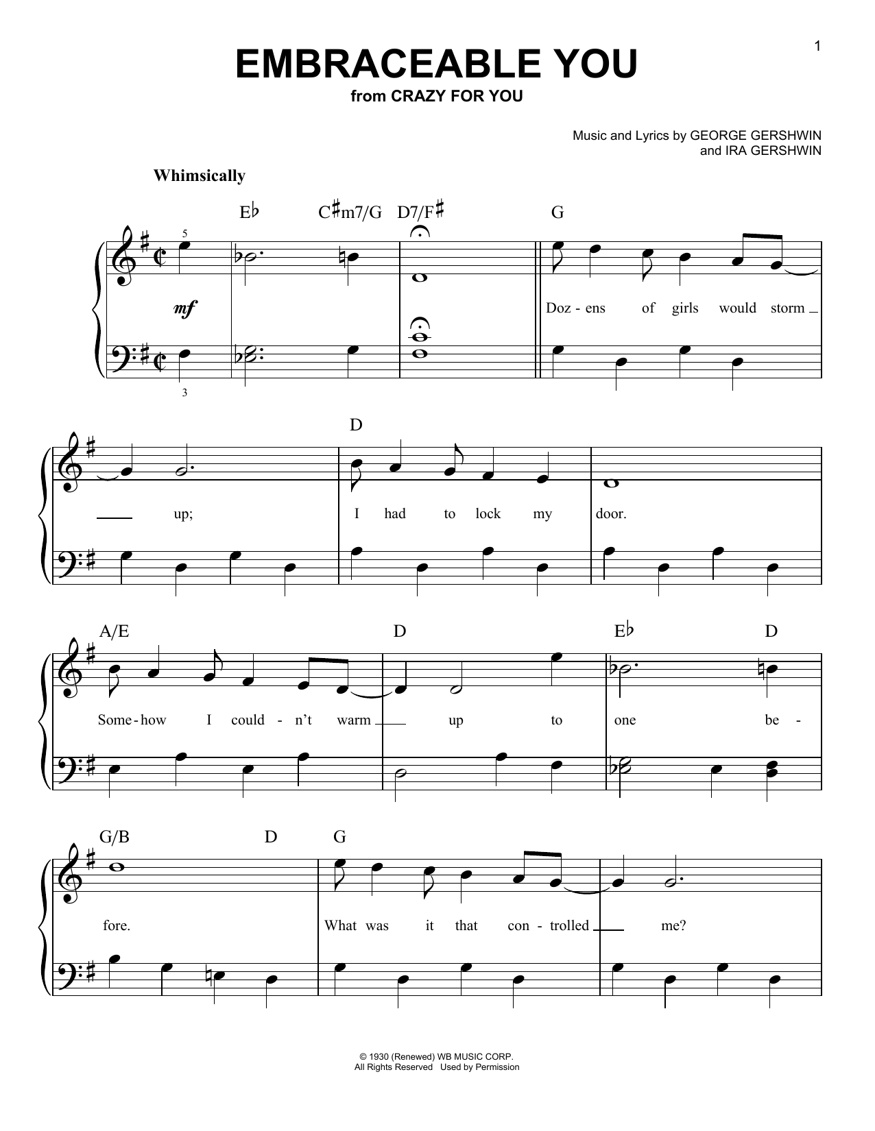Embraceable You Sheet Music