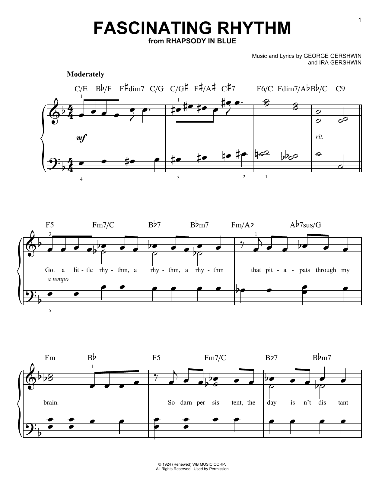 Fascinating Rhythm Sheet Music