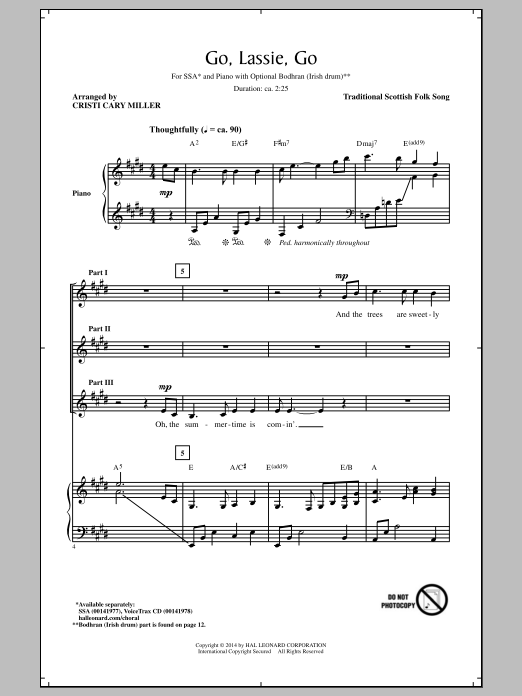Partition chorale Wild Mountain Thyme (arr. Cristi Cary Miller) de Scottish Folksong - SSA