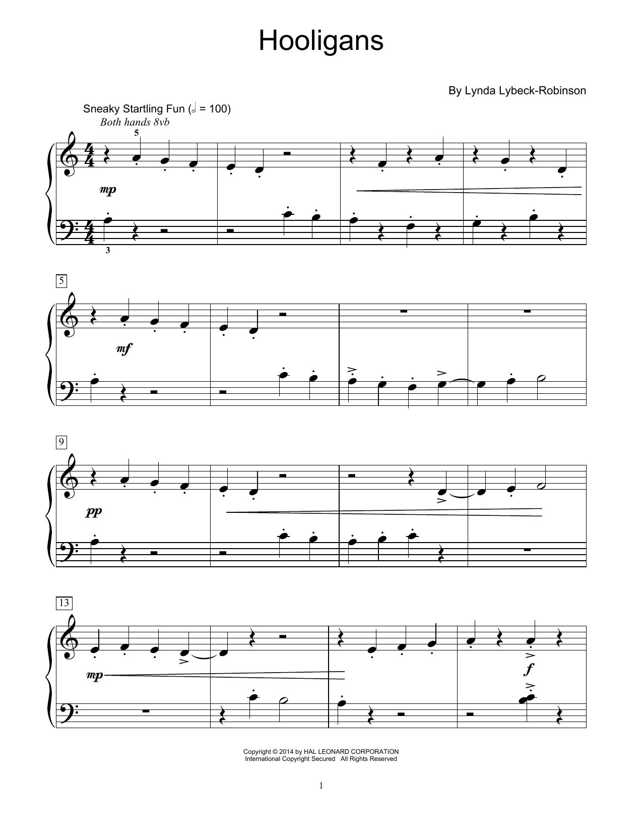 Partition piano Hooligans de Lynda Lybeck-Robinson - Autre