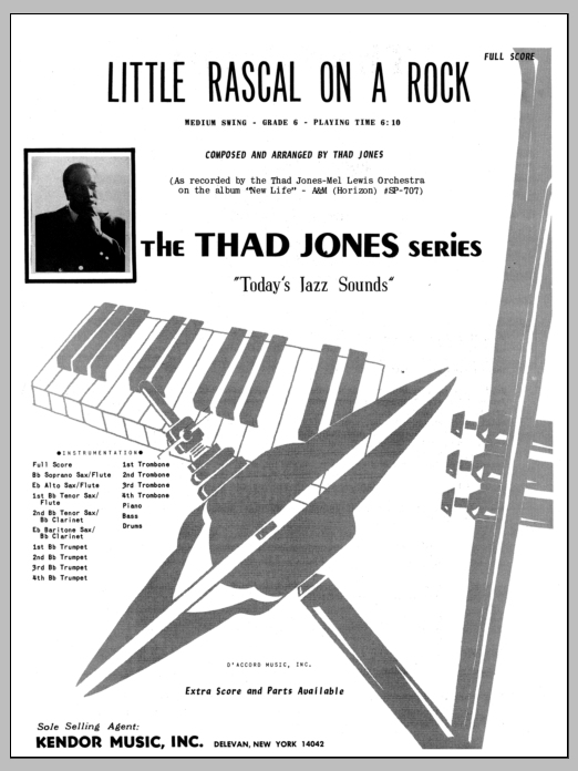 Little Rascal On A Rock (COMPLETE) sheet music for jazz band by Thad Jones. Score Image Preview.