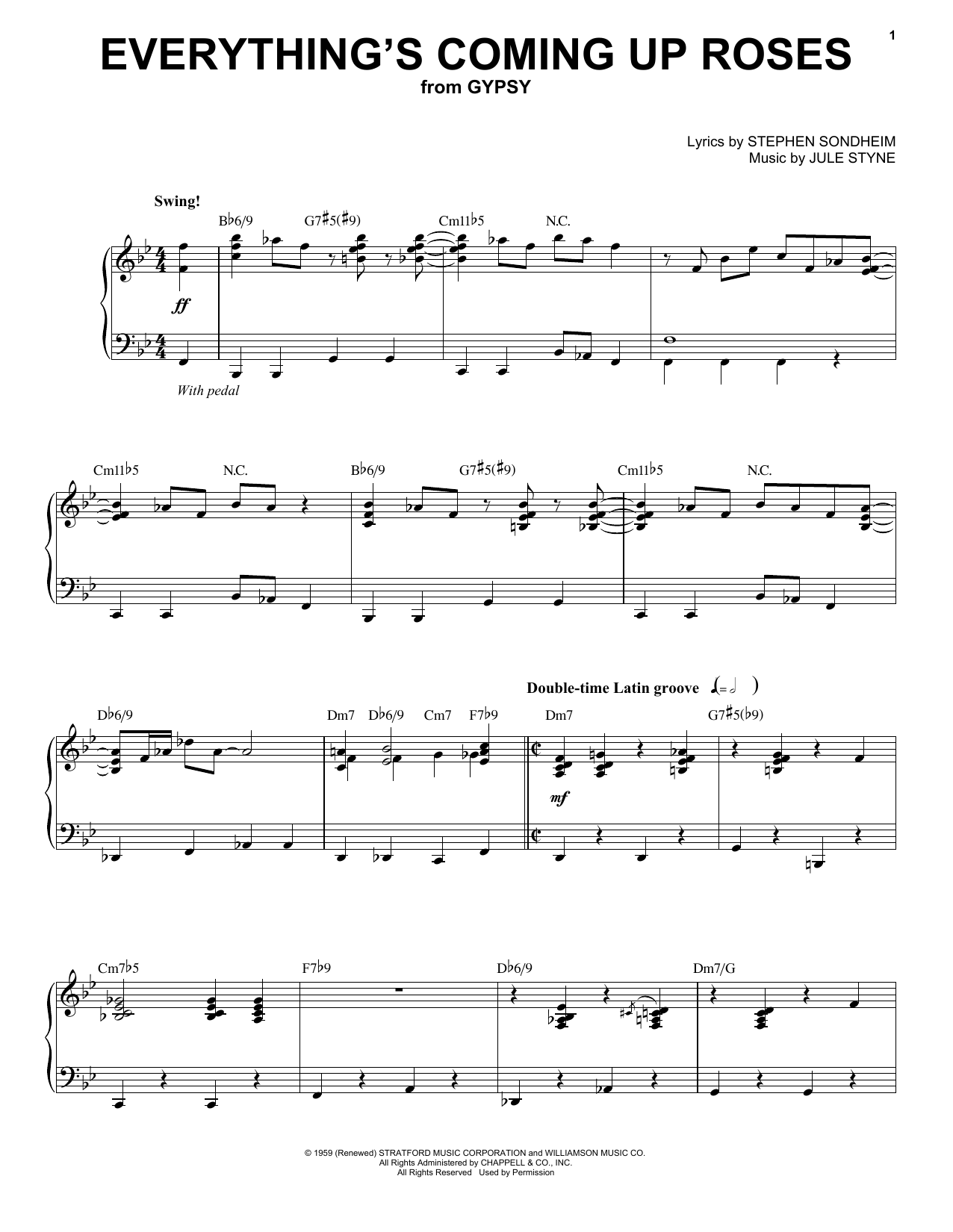 Everything's Coming Up Roses (from Gypsy) Sheet Music