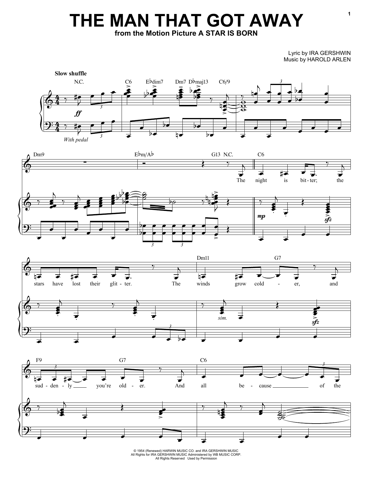 The Man That Got Away Sheet Music