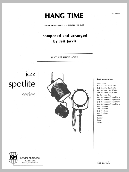 Hang Time (COMPLETE) sheet music for jazz band by Jeff Jarvis. Score Image Preview.