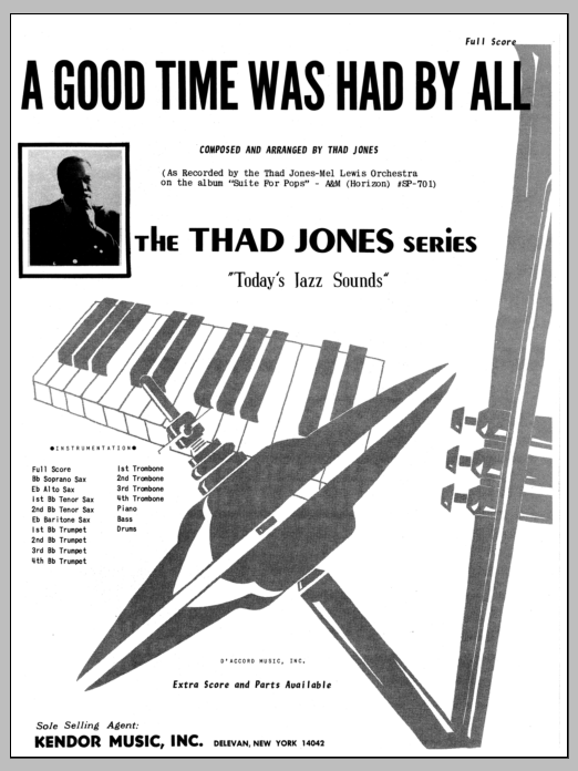 A Good Time Was Had By All (COMPLETE) sheet music for jazz band by Thad Jones. Score Image Preview.