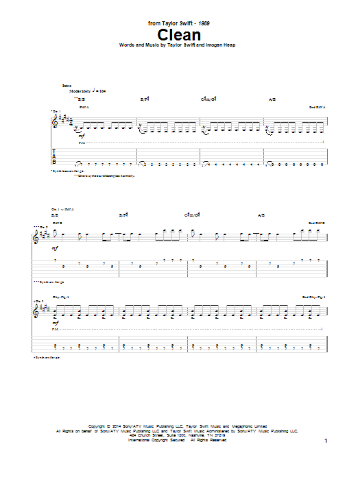 Clean (Guitar Tab)