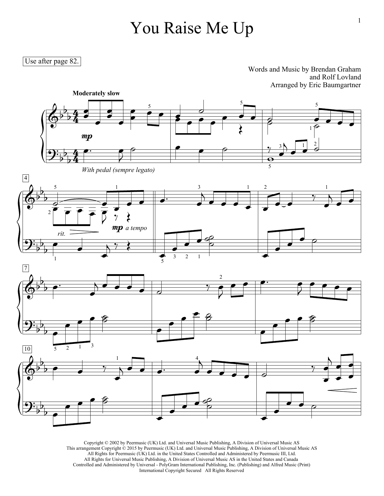 You Raise Me Up (Educational Piano)