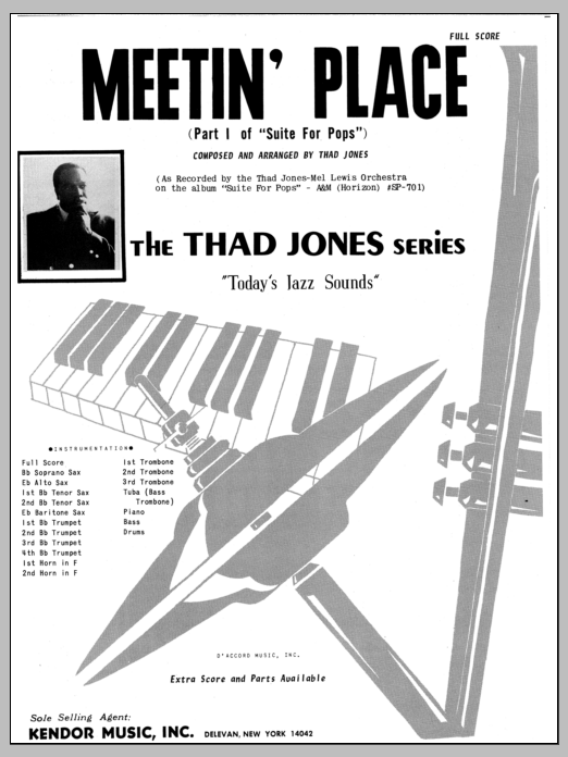 Meetin' Place (COMPLETE) sheet music for jazz band by Thad Jones. Score Image Preview.