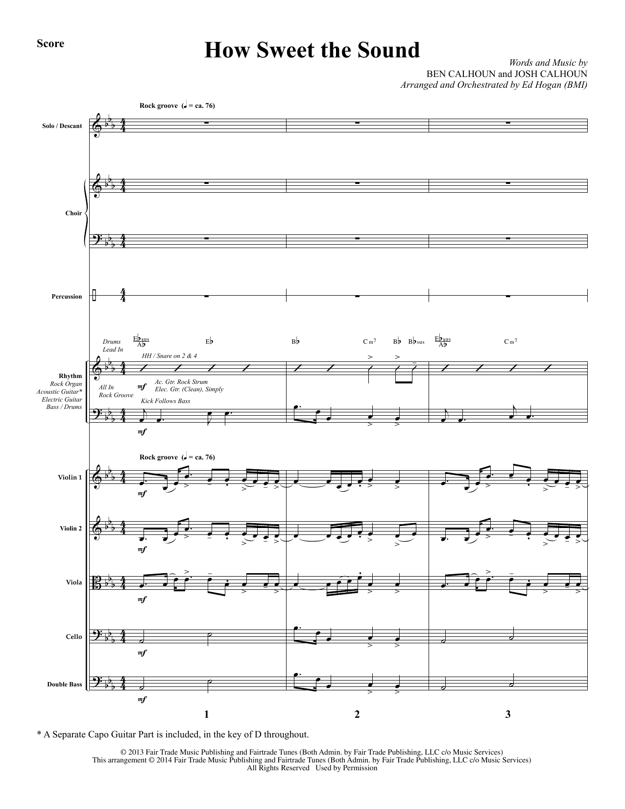 How Sweet the Sound - Full Score Sheet Music