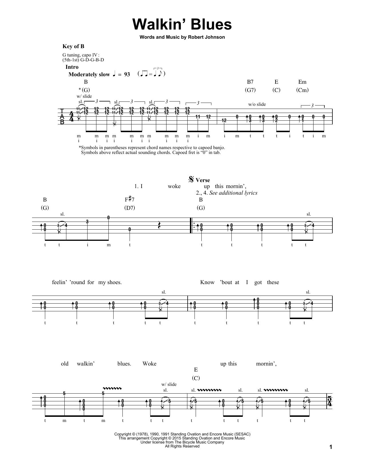 Walkin' Blues (Banjo Tab)