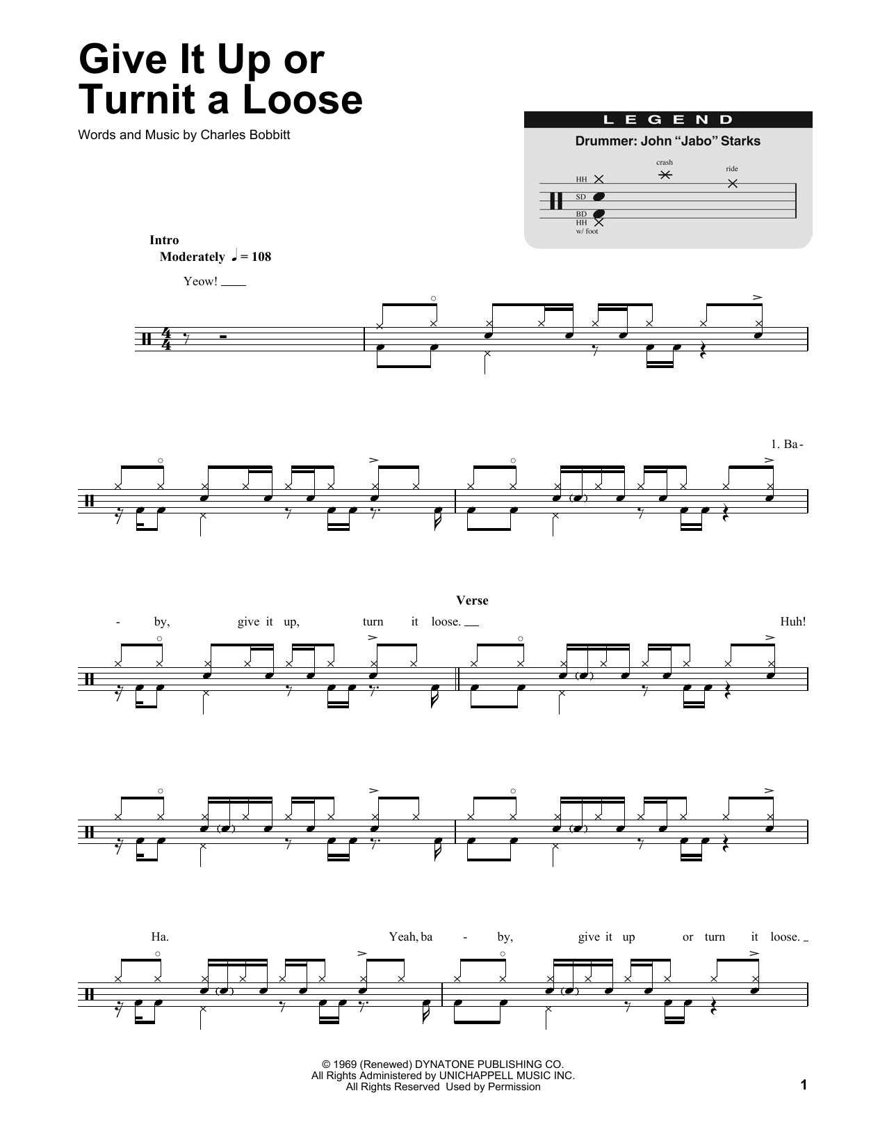 Give It Up Or Turnit A Loose Sheet Music