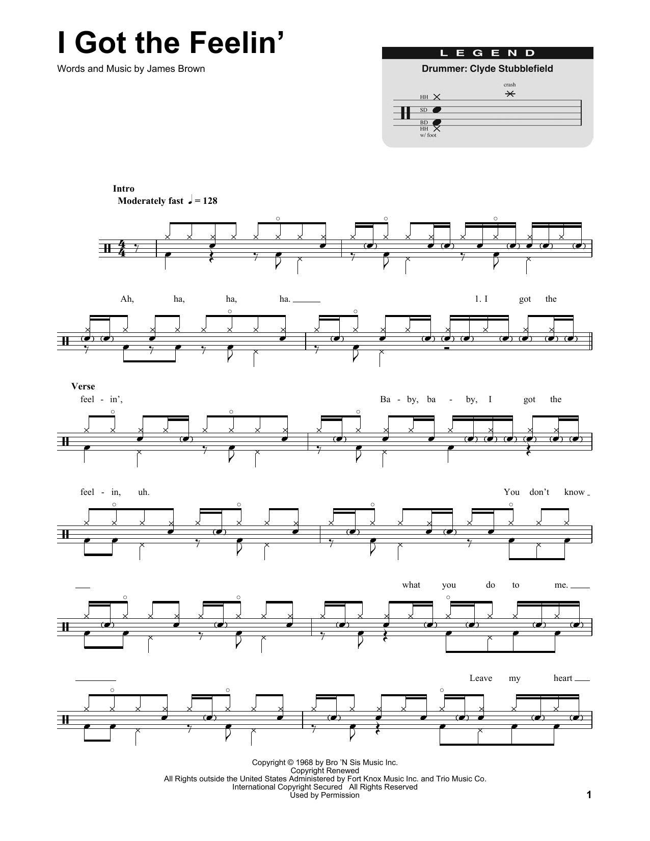 I Got The Feelin' Sheet Music