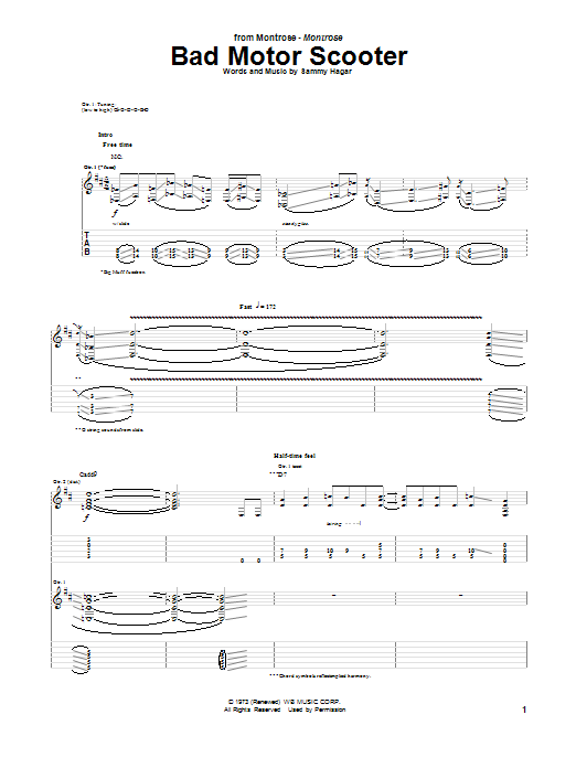 Bad Motor Scooter Sheet Music