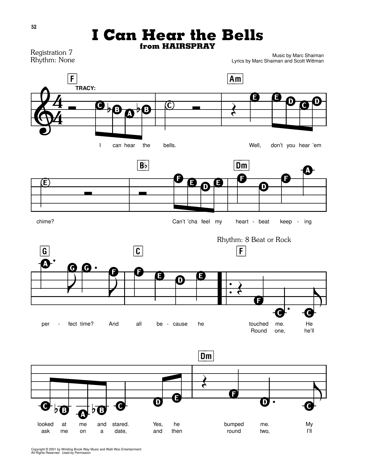 I Can Hear The Bells (from Hairspray) Sheet Music