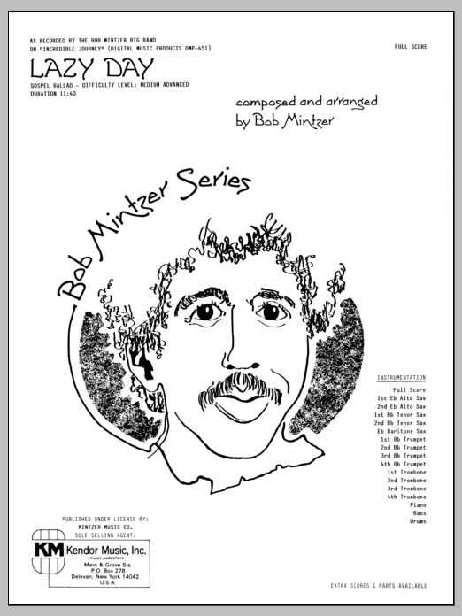 Lazy Day (COMPLETE) sheet music for jazz band by Bob Mintzer. Score Image Preview.