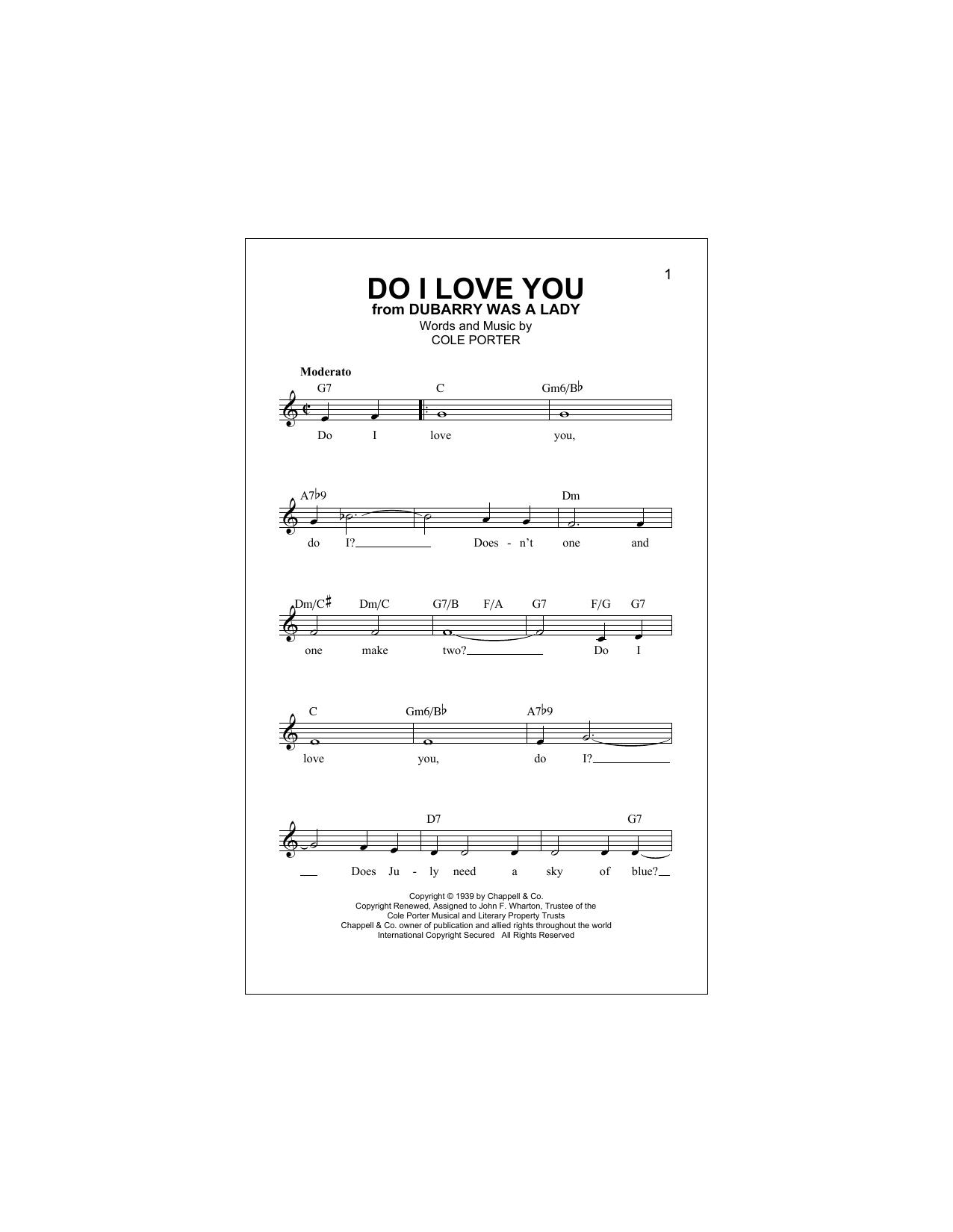 Do I Love You (Lead Sheet / Fake Book)