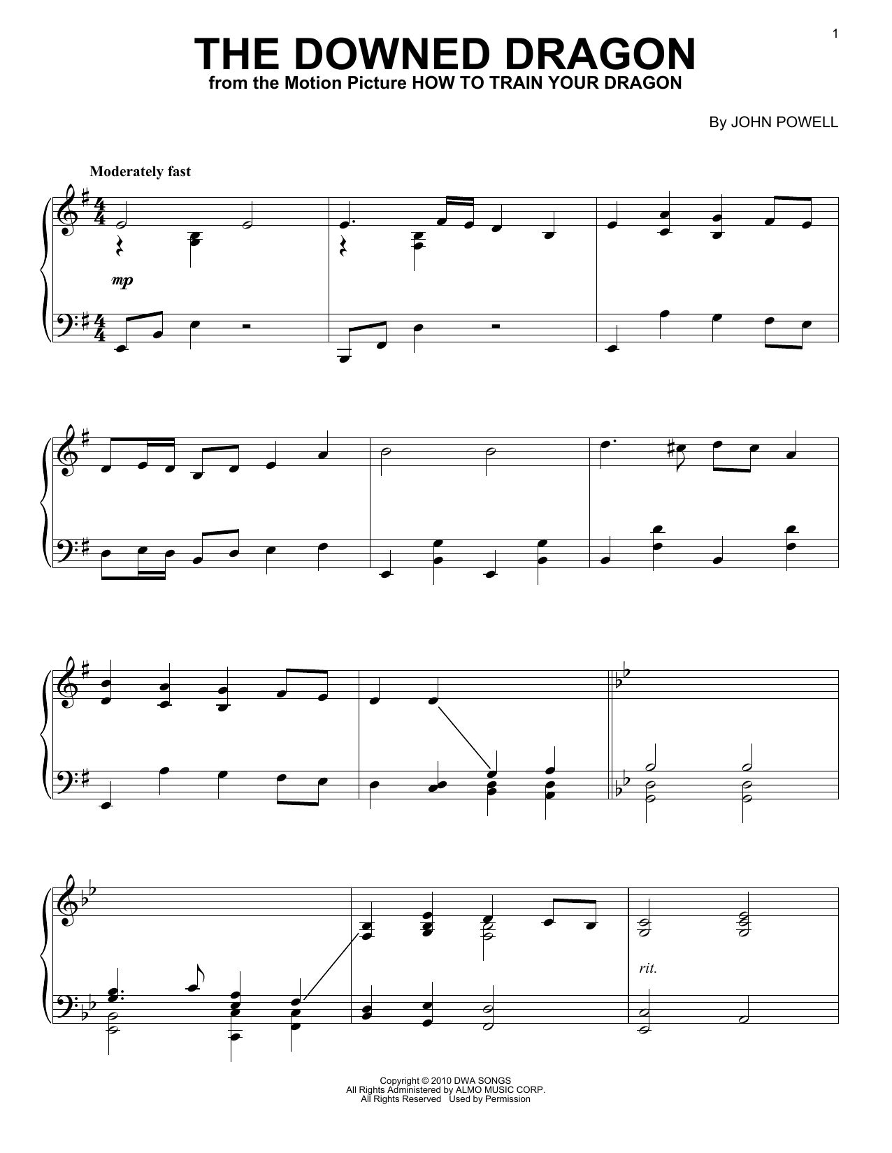 The Downed Dragon Sheet Music
