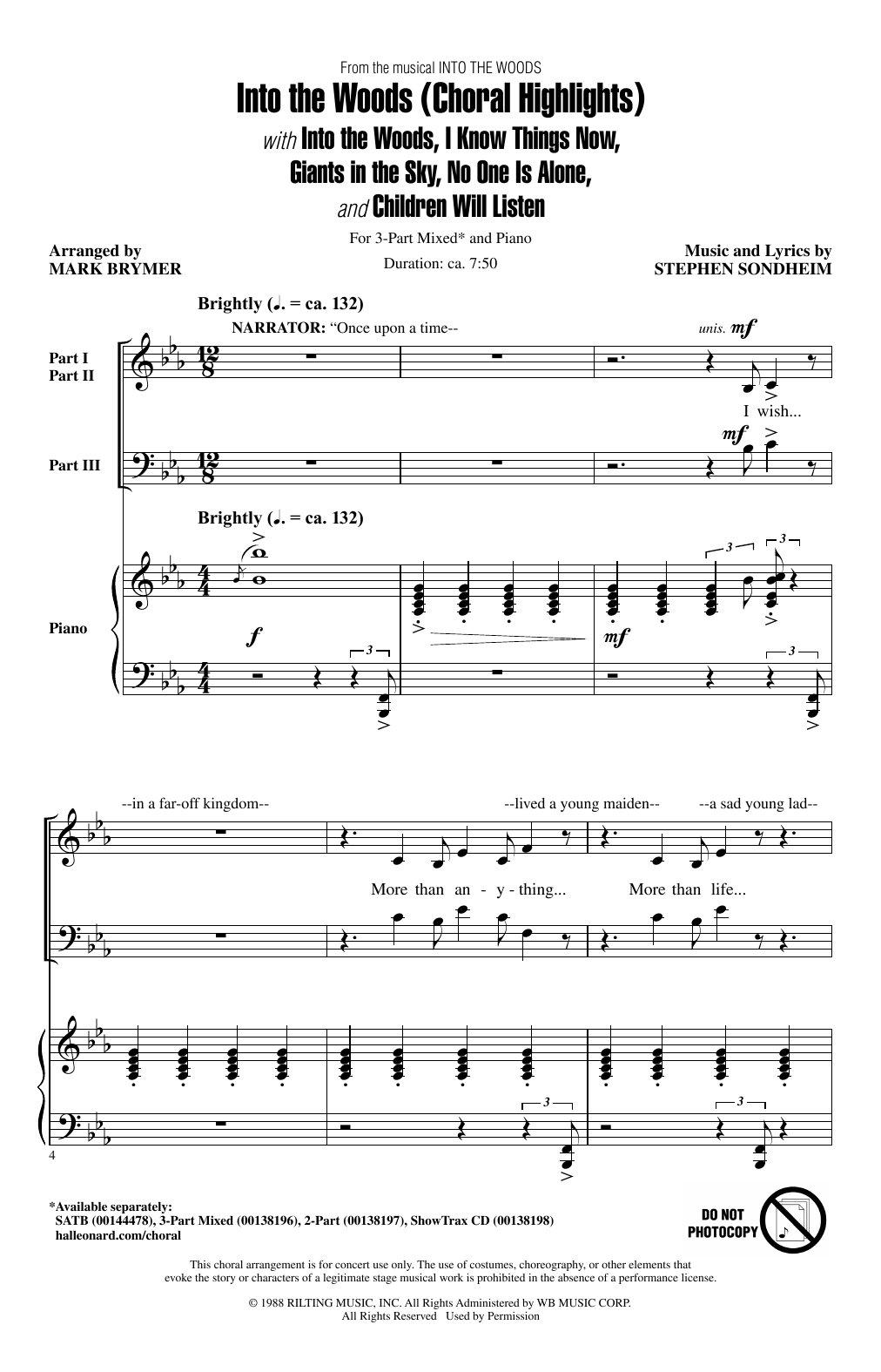 Into The Woods (Choral Highlights) Sheet Music