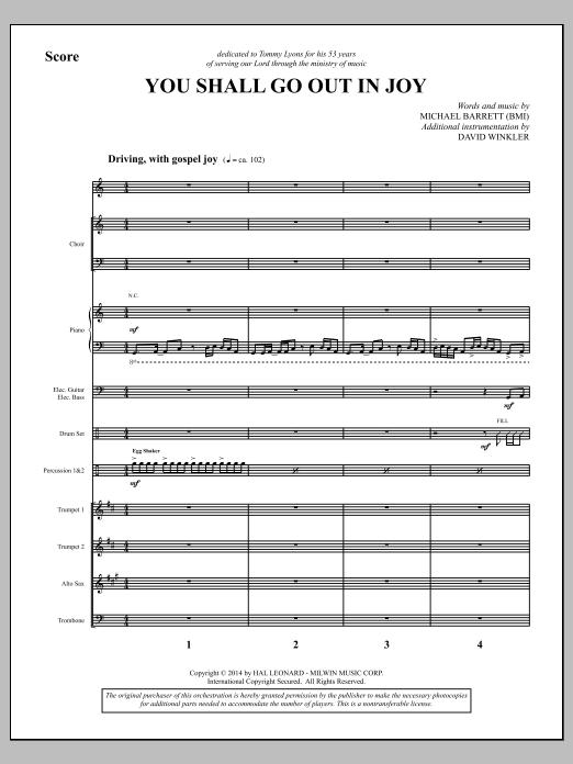 You Shall Go Out in Joy - Full Score (Choir Instrumental Pak)