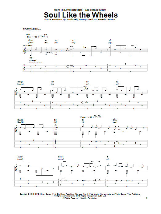 Soul Like The Wheels (Guitar Tab)
