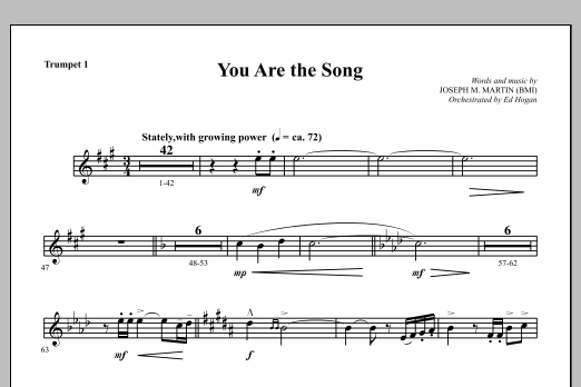 You Are the Song - Bb Trumpet 1 Sheet Music