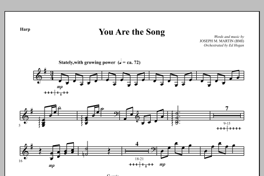 You Are the Song - Harp Sheet Music