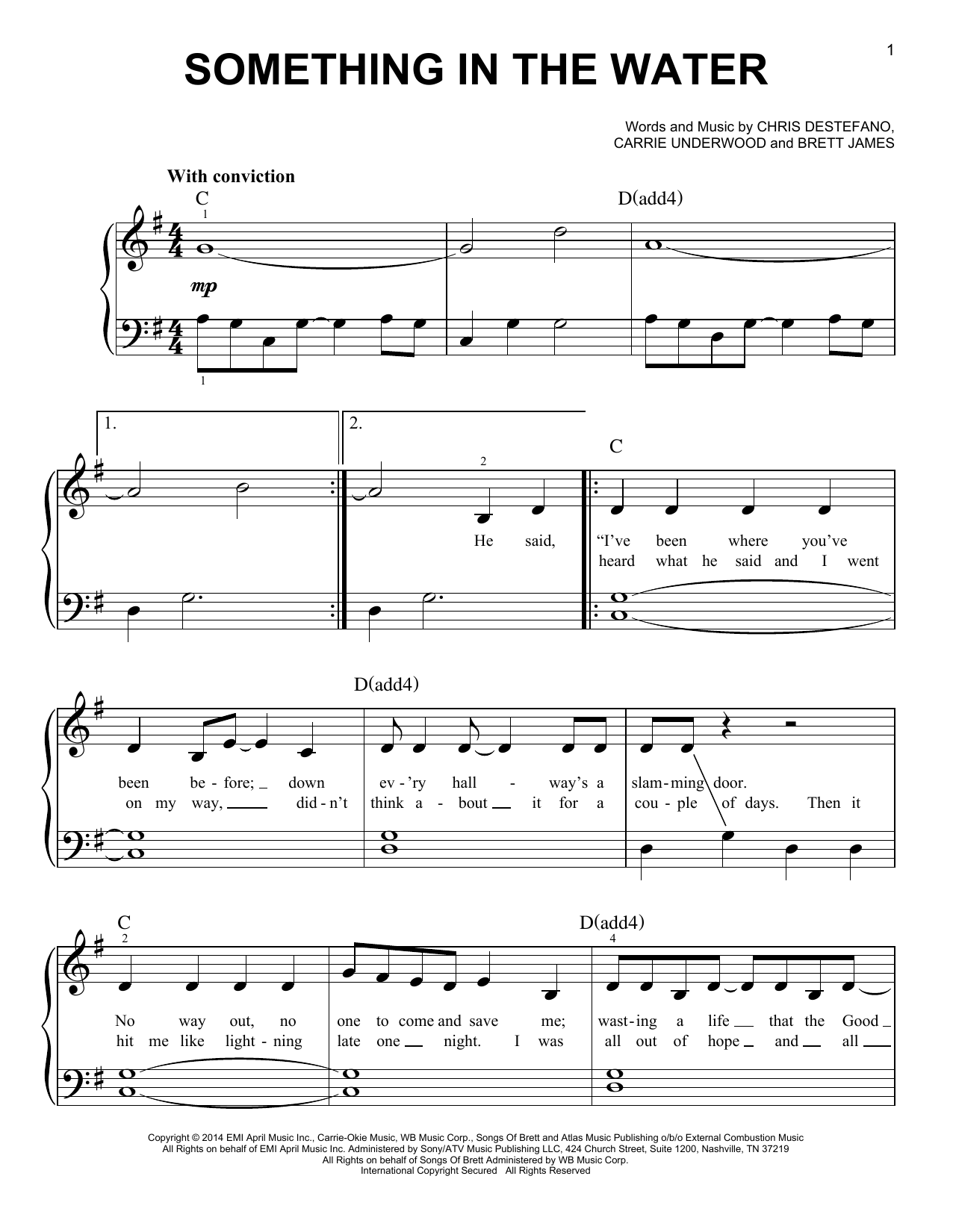 Something In The Water Sheet Music