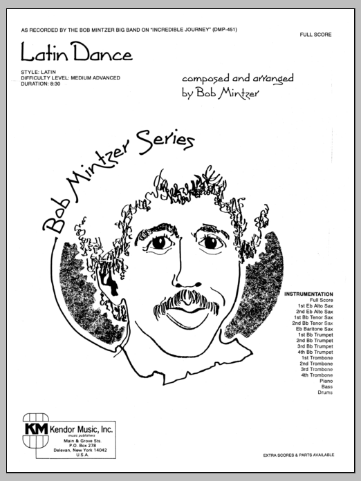 Latin Dance (COMPLETE) sheet music for jazz band by Bob Mintzer. Score Image Preview.