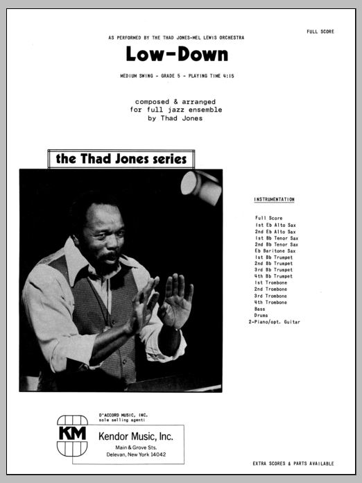 Low-Down (COMPLETE) sheet music for jazz band by Thad Jones. Score Image Preview.