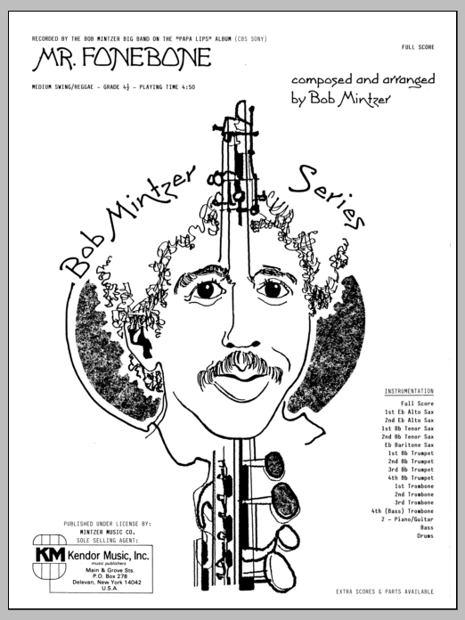 Mr. Fonebone (COMPLETE) sheet music for jazz band by Bob Mintzer. Score Image Preview.