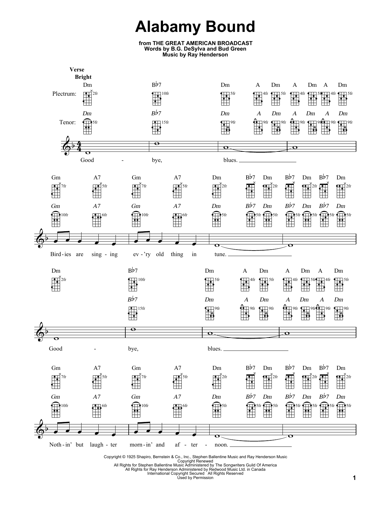 Alabamy Bound Sheet Music