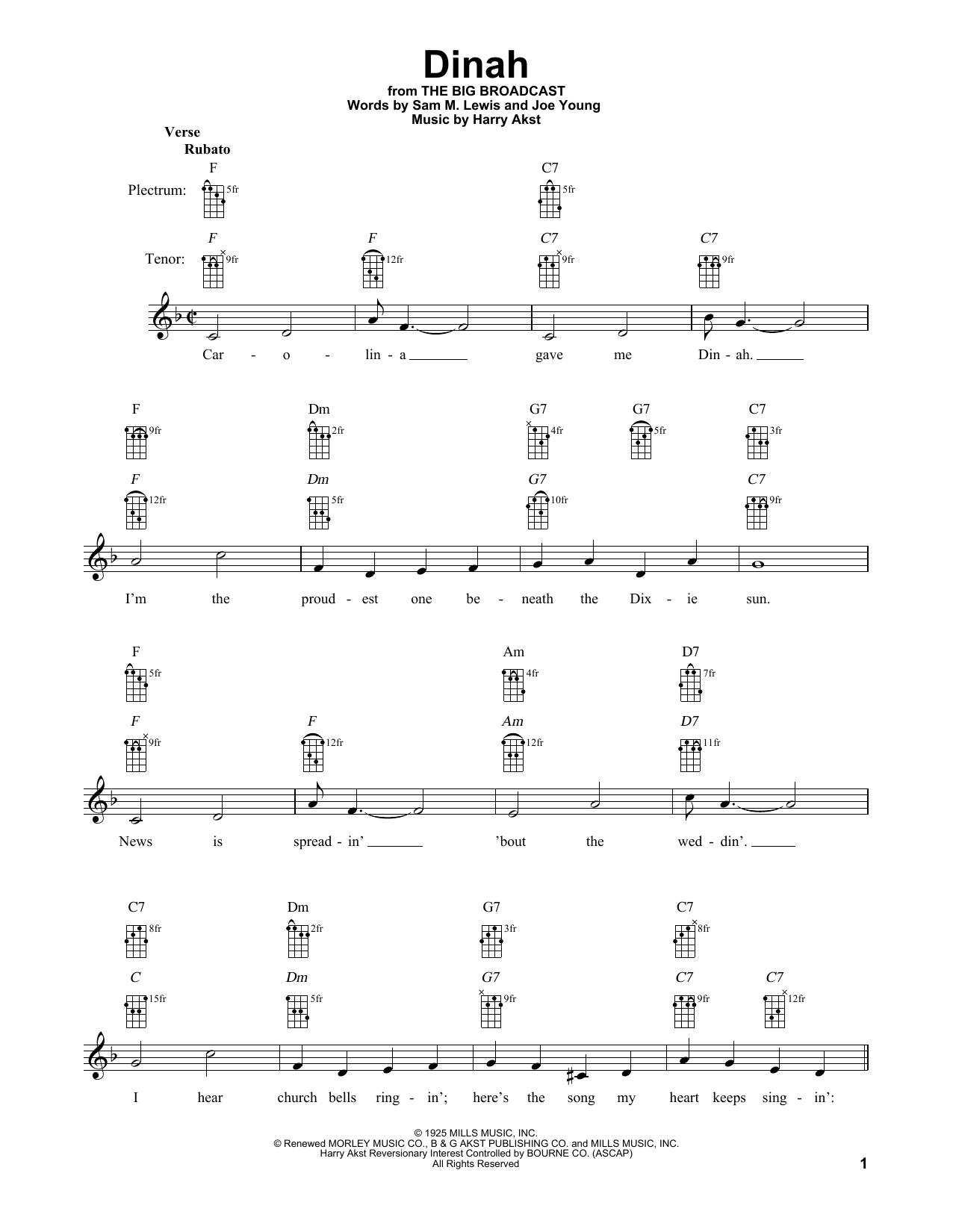 Dinah Sheet Music