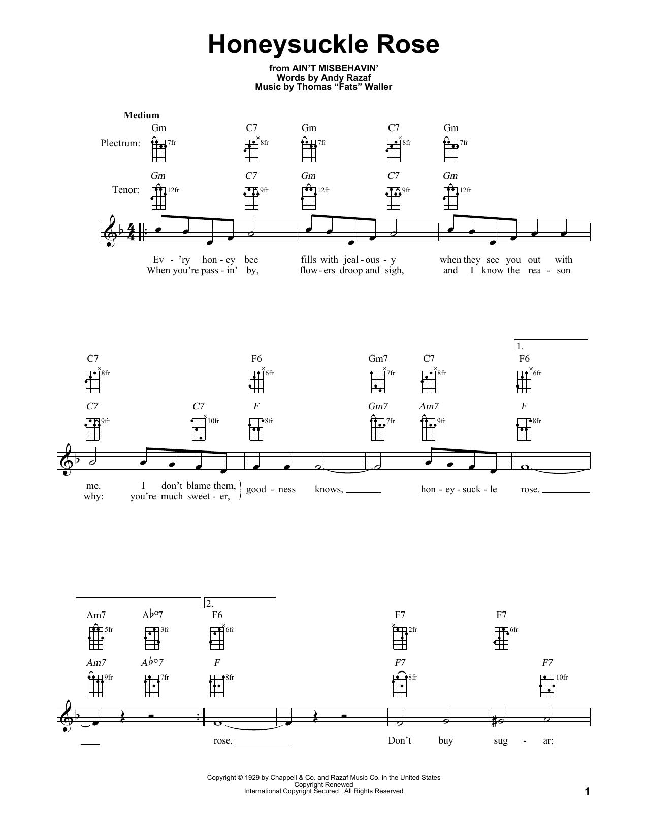 Honeysuckle Rose (Banjo Tab)